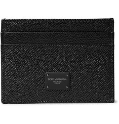 Dolce & Gabbana Pebble-Grain Leather Cardholder