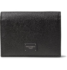 Dolce & Gabbana Pebble-Grain Leather Bifold Cardholder