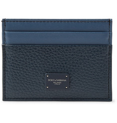 Dolce & Gabbana Two-Tone Full-Grain Leather Cardholder