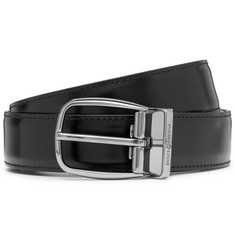 Dolce & Gabbana 3cm Glossed and Matte Leather Belt