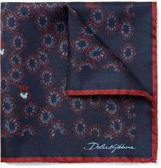 Dolce & Gabbana - Printed Silk Pocket Square