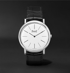 Piaget - Altiplano 38mm 18-Karat White Gold and Alligator Watch
