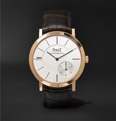 Piaget Altiplano 41mm 18-Karat Rose Gold and Alligator Watch