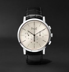 Piaget - Altiplano Flyback Chronograph 41mm 18-Karat White Gold and Alligator Watch