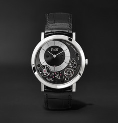 Piaget Altiplano 38mm 18-Karat White Gold and Alligator Watch