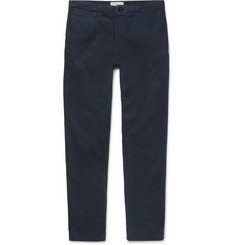 Mr P. Straight-Leg Navy Garment-Dyed Cotton-Twill Chinos