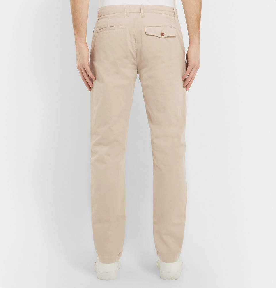 Mr P. Garment-Dyed Cotton-Twill Chinos