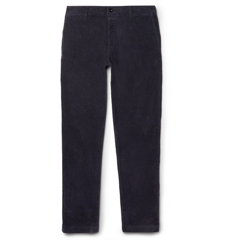 Stretch-cotton Corduroy Chinos - Navy