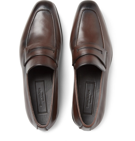 Asola Leather Penny Loafers by Ermenegildo Zegna
