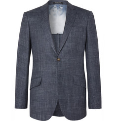Richard James - Navy Hyde Slim-Fit Checked Cotton Blazer