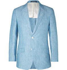 Richard James - Light-Blue Seishin Slim-Fit Melangé Linen Blazer