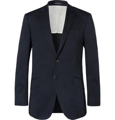 Richard James Navy Hyde Slim-Fit Stretch-Cotton Suit Jacket