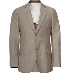 Richard James Mushroom Seishin Slim-Fit Slub Linen and Cotton-Blend Suit Jacket