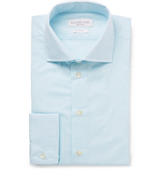 Richard James - Aqua Slim-Fit Cutaway-Collar End-on-End Cotton Shirt