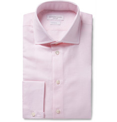 Richard James Pink Slim-Fit Slub Cotton and Linen-Blend Shirt