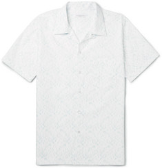 Richard James Camp-Collar Printed Cotton Shirt