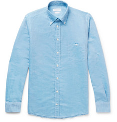 Richard James - Button-Down Collar Slub Linen and Cotton-Blend Shirt