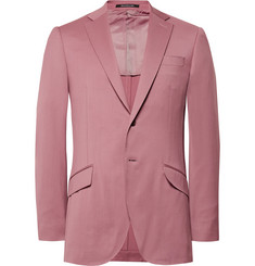 Richard James Pink Hyde Slim-Fit Wool Suit Jacket