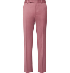 Richard James Pink Hyde Slim-Fit Wool Suit Trousers