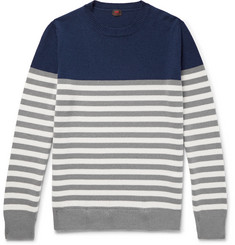 MP Massimo Piombo Cézanne Slim-Fit Striped Cashmere Sweater