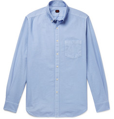 MP Massimo Piombo Button-Down Collar Cotton Oxford Shirt