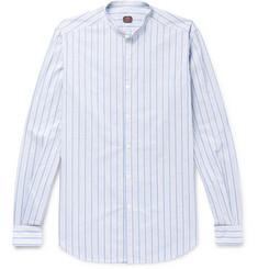MP Massimo Piombo - Rodin Slim-Fit Grandad-Collar Striped Cotton Shirt