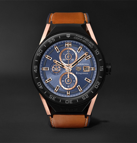 Tag Heuer Connected Modular 45mm Ceramic And Leather Smartwatch - Tan