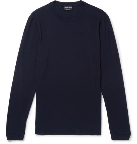 Stretch-jersey T-shirt - Navy