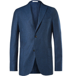 Boglioli - Navy Silk and Linen-Blend Blazer