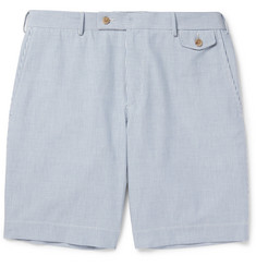 Boglioli Striped Cotton Bermuda Shorts