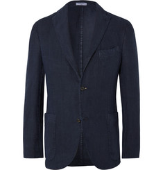 Boglioli - Navy Unstructured Linen Suit Jacket