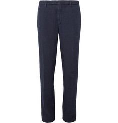 Boglioli Navy Linen Suit Trousers