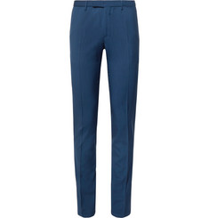 Boglioli Navy Slim-Fit Virgin Wool Suit Trousers