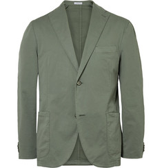 Boglioli Army-Green Slim-Fit Unstructured Stretch-Cotton Twill Suit Jacket