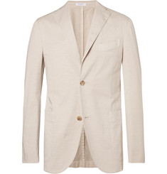 Boglioli Sand Unstructured Stretch Cotton and Linen-Blend Suit Jacket
