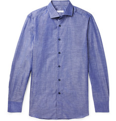 Boglioli Slim-Fit Slub Cotton and Linen-Blend Shirt