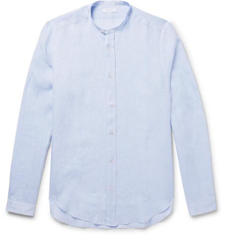 Slim-fit Linen Shirt - Tomato redBarena Prix Incroyable Vente Acheter Pas Cher En Ligne Livraison Gratuite Avec Paypal Collections De Vente Se0zzZfC