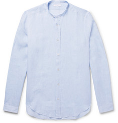 Boglioli Slim-Fit Grandad-Collar Linen Shirt