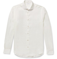 Boglioli Slim-Fit Slub Linen Shirt