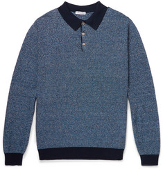 Boglioli Slim-Fit Mélange Knitted Polo Shirt