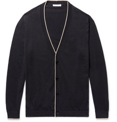 Boglioli Contrast-Tipped Cotton Cardigan