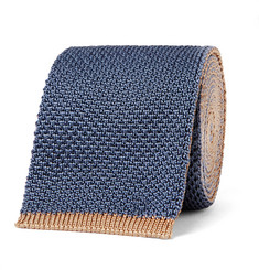 Boglioli 6cm Reversible Knitted Silk Tie