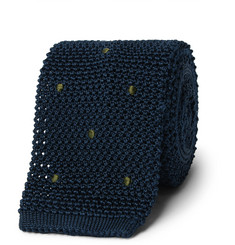 Boglioli - 6cm Embroidered Knitted Silk Tie