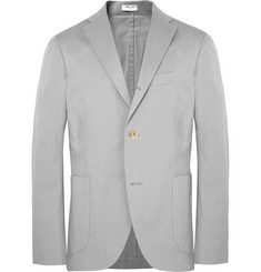 Boglioli Light-Grey Slim-Fit Unstructured Stretch-Cotton Twill Suit Jacket