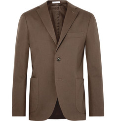 Boglioli Brown Slim-Fit Unstructured Stretch-Cotton Twill Suit Jacket