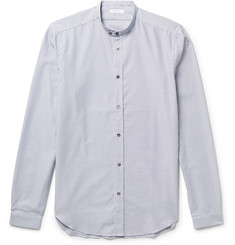 Boglioli Slim-Fit Grandad-Collar Striped Cotton Shirt