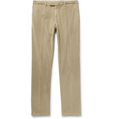 Boglioli - Beige Slim-Fit Stretch-Cotton Corduroy Suit Trousers