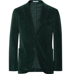 Boglioli Dark-Green Slim-Fit Stretch-Cotton Corduroy Suit Jacket