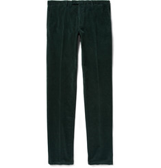 Boglioli Dark-Green Slim-Fit Stretch-Cotton Corduroy Suit Trousers