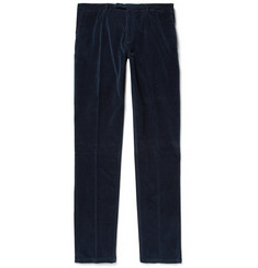 Boglioli Storm-Blue Slim-Fit Stretch-Cotton Corduroy Suit Trousers